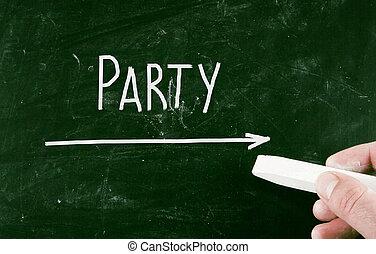 מפלגה, מושג