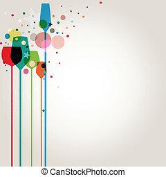 מפלגה, צבעוני, שותה