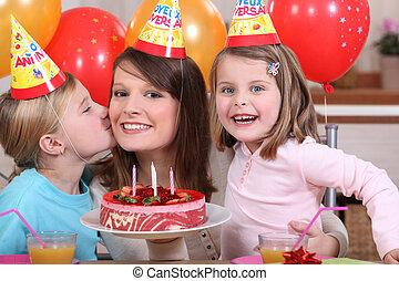 מפלגה, קטן, יום הולדת, ילדה