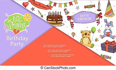 מפלגה, רשום, מושג, יום הולדת