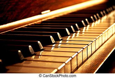 מפתחות, זהוב, פסנתר