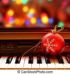 מפתחות, פסנתר, כדור, חג המולד