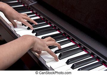 מפתחות, פסנתר