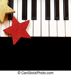 מפתחות, פסנתר, קישוטים של חג ההמולד