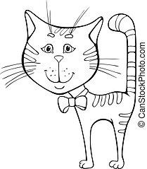 מצחיק, ציור היתולי, חתול