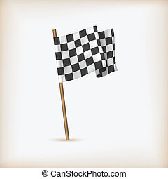מציאותי, וקטור, לרוץ, משובץ, flag.