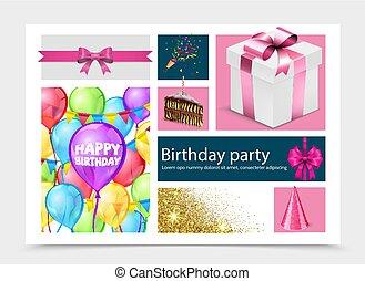 מציאותי, יום הולדת, תרכובת, מפלגה
