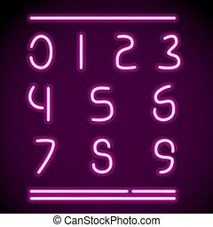 מציאותי, נאון, מספרים, אלפבית