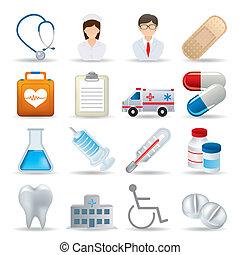 מציאותי, רפואי, קבע, איקונים