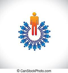 מציג, גרפי, כמו, צבעוני, גם, תקציר, דוגמה, מעביד, וכו', מנהל, followers., עובד, מושגים, מנהיג, עובד
