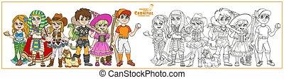 מצרי, מכשפה, תלבושות, לצבוע, שחקן, בייסבול, איש מערות, כוווגירל, קרנבל, צבע, עמוד, תאר, בתולת ים, אותיות, פרעוה, ילדים