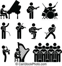 מקהלה, מוסיקאי, פסנתרן, הופעה