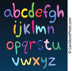 מקרה, אלפבית, יותר נמוך, ספאגטי, צבעוני