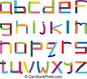 מקרה, אלפבית, יותר נמוך, צבעוני
