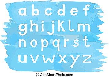 מקרה, אלפבית, יותר נמוך, קבע, מכתבים