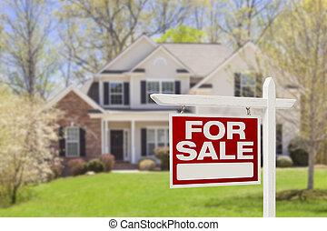 מקרקעין, דיר, סימן של מכירה, בית