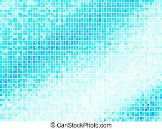 מרובע כחול, אור, תקציר, רקע., מאלטיכולור, וקטור, רעף, פיקסל, מוזאיקה