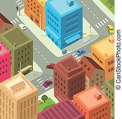 מרכז העיר, עיר, -, ציור היתולי