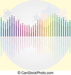 משוואה, אור, מודרני, אפור, many-colored, רקע