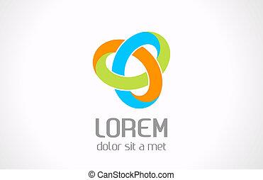 משולש, תקציר, עצב., vector., לוגו, ענוב