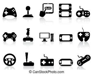 משחק, קבע, וידאו, ג'ויסטיק, איקונים