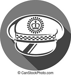 משטרה, כובע, דירה, איקון