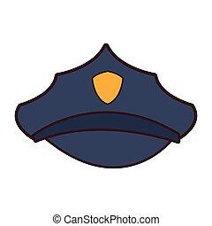 משטרה, כובע, ציור היתולי