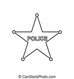משטרה, icon., ככב, תאר, ליניארי