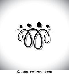 משפחה, אנשים, symbols(icons), תקציר, ארבעה, לולאות, להשתמש, קו