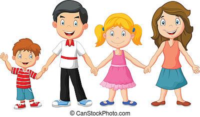 משפחה שמחה, להחזיק ידיים