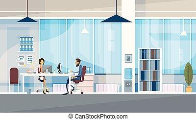 משרד, עסק, לשבת, אנשים, co-working, ביחד, רכז, לעבוד, יצירתי, שולחן