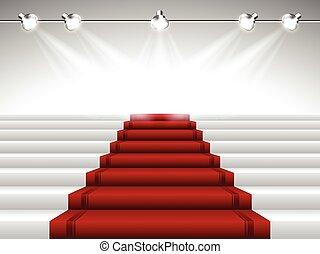 מתחת, מנורות ממוקדת, שטיח, אדום