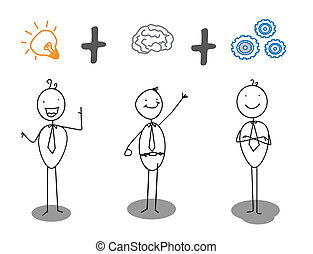 מתקדם, עבודה, חכם, רעיון