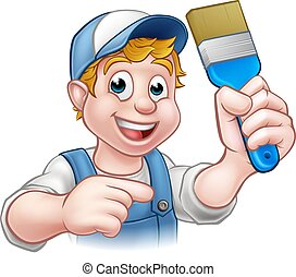 מתקן כל דבר, אופי, צייר, דקורטור, ציור היתולי
