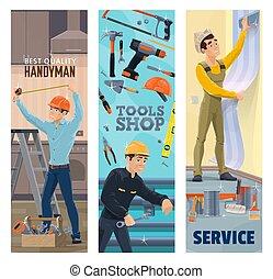 מתקן כל דבר, או, כלים, אינסטלטור, דקורטור, צייר