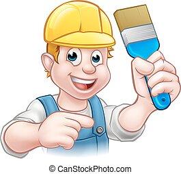 מתקן כל דבר, צייר, דקורטור, מכחול