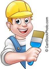 מתקן כל דבר, צייר, דקורטור, ציור היתולי