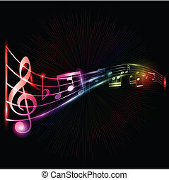 נאון, רואה, מוסיקה, רקע