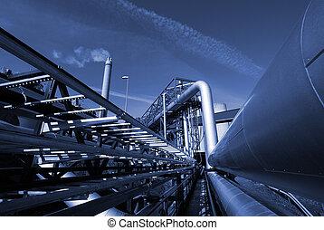 נגד, שמיים כחולים, תעשיתי, צליל, pipe-bridge, קוי צינורות