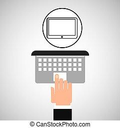 נגע, רשת, מחשב נייד, קדור, העבר