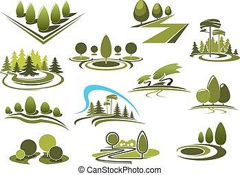 נוף, חנה, איקונים, יער, ירוק, גן