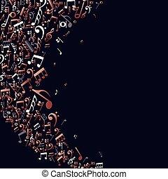 נחושת, רואה, מושג, מוסיקה, רקע
