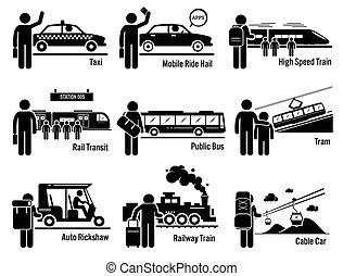 נחות תחבורה, ציבור, כלי רכב