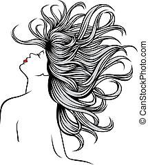 נחמד, ילדה, שלי, פנטזיה, שיערות