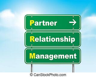 ניהול, מערכת יחסים, חתום, שותף, דרך, 3d