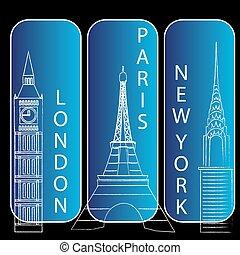 ניויורק, פריז, לונדון