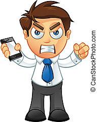נייד, כועס, -, איש של עסק
