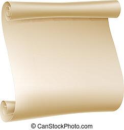 נייר, דוגמה, גלול
