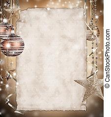 נייר, חג המולד, רקע, טופס
