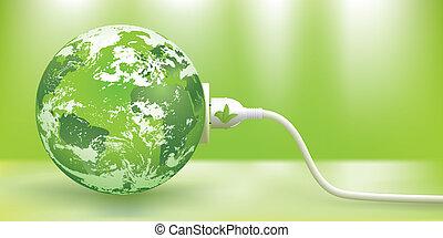 ניתן להמשך, וקטור, אנרגיה, ירוק, מושג